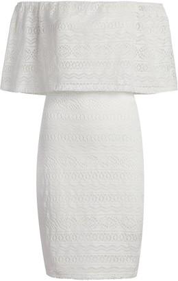 New York & Co. Crochet Off-The-Shoulder Sheath Dress