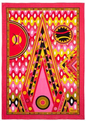 Emilio Pucci Vivara-print Cotton-terry Beach Towel - Womens - Pink Multi