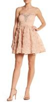 Trixxi Strapless Embellished Dress