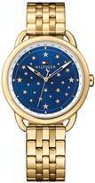 Tommy Hilfiger Lucy Blue Star Dial Gold Tone Bracelet Ladies Watch