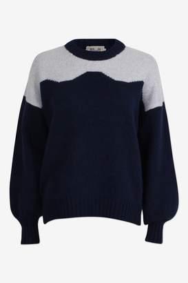 Baum und Pferdgarten Cirkeline Peacoat Light Grey Jumper - merino wool | navy | Light grey | Size M - Navy