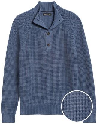 Banana Republic Waffle-Knit Mock-Neck Sweater