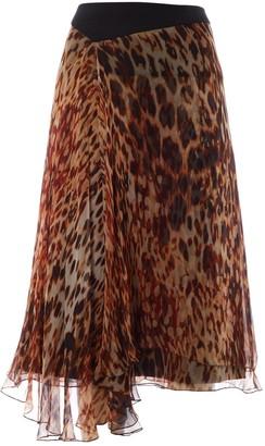 Bouchra Jarrar Brown Silk Skirt for Women