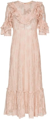 By Ti Mo byTiMo ruffled lace midi dress