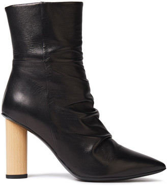 IRO Nazca Ruched Leather Ankle Boots