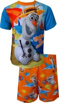 Disney Frozen Olaf Chillin' In The Sunshine Toddler Summer Pajama for Little Boys