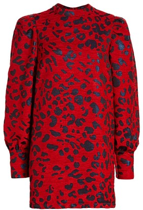 Andamane Baylee Leopard Jacquard Mini Dress