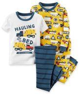 Carter's 4-Piece Truck Pajama Set in Yellow
