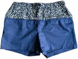 Proenza Schouler Navy Cotton Shorts