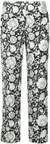 Christian Wijnants flower print cropped trousers
