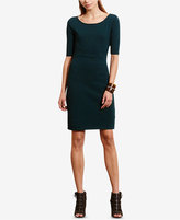 Lauren Ralph Lauren Petite Ballet-Neck Knit Dress