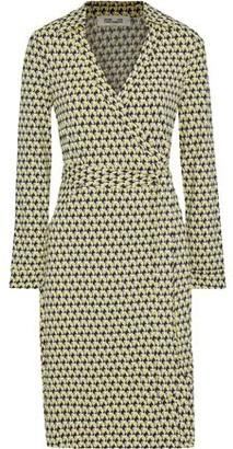 Diane von Furstenberg New Jeanne Two Printed Stretch-jersey Wrap Dress