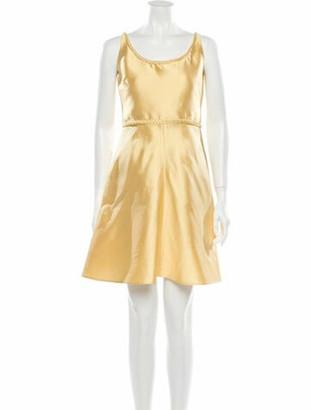 Valentino Silk Mini Dress w/ Tags Yellow