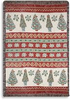 Bed Bath & Beyond Holiday Christmas Topiaries Throw Blanket