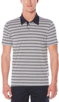 Perry Ellis Short Sleeve Zig-Zag Printed Polo