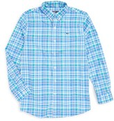 Vineyard Vines Boy's Shark Bay Plaid Performance Woven Shirt