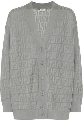Fendi Cotton-blend cardigan