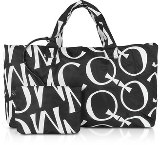 McQ Inside Out Black & White Signature Tote Bag