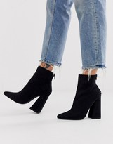 Co Wren pointed block heel ankle boots in black