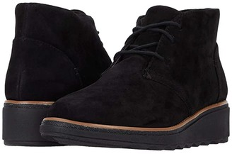 Clarks Sharon Hop (Black Suede) Women's Boots