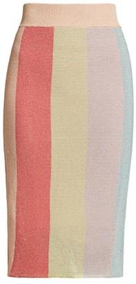 ML Monique Lhuillier Multicolor Knit Skirt