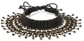 Erickson Beamon Party Mix Gold-tone, Bead And Satin Choker - Black