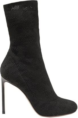 Francesco Russo Pointelle-knit Cotton Sock Boots