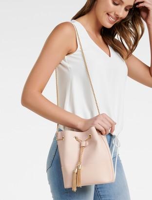 Forever New Lana Drawstring Bucket Bag - Blush - 00