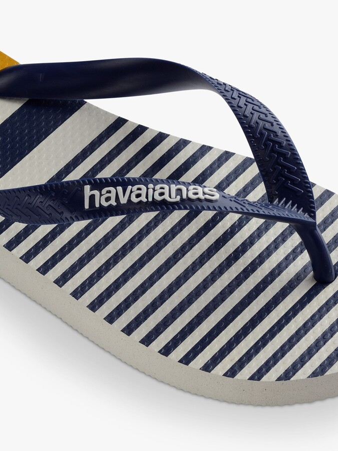 Thumbnail for your product : Havaianas Nautical Stripe Flip Flops, Navy/White