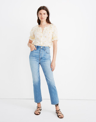 Madewell Rigid Slim Demi-Boot Jeans in Banter Wash