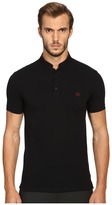 The Kooples Sport Fitted Officer Collar Polo Men's Short Sleeve Pullover