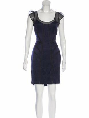Diane von Furstenberg Scoop Neck Mini Dress w/ Tags Blue