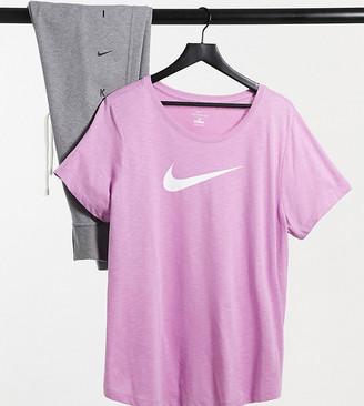 Nike Training Plus Swoosh t-shirt in pink