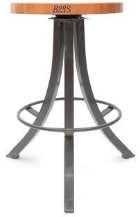"John Boos Foundry Swivel Counter & Bar Stool Seat Height: ""Counter Stool (25.5"" Seat Height)"", Color: Gray"