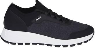 Prada Logo Laced-up Sneakers
