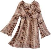 Soprano Juliette Sleeve Boho Printed Dress (Big Girls)