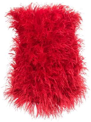 ATTICO feather embellished dress