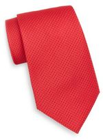 Saks Fifth Avenue Neat Tonal Diamond Silk Tie
