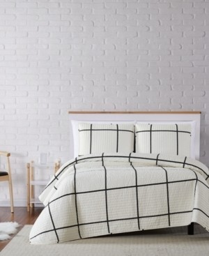 Truly Soft Kurt Windowpane Twin Xl Quilt Set