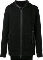 Helmut Lang zipped strap hoodie - men - Cotton/Spandex/Elastane/Viscose - XS