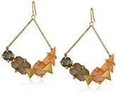 Erickson Beamon Rocks Trapeze Multi-Stone Drop Earrings