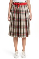 Sofie D'hoore Women's Pleated Technical Gabardine Skirt