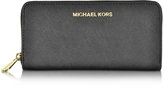 Michael Kors Black Jet Set Travel Saffiano Leather Continental Wallet