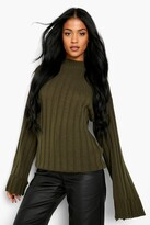 boohoo Tall Wide Rib Turn Up Cuff Sweater