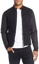BOSS Men's 'Solari' Trim Fit Mixed Media Jacket