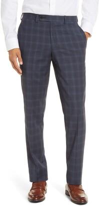 Ted Baker Jefferson Trim Fit Plaid Wool Dress Pants