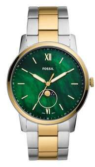 Fossil The Minimalist Moonphase Two-Tone Stainless Steel Bracelet Watch