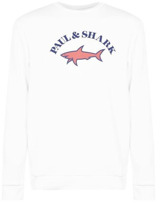 Paul And Shark Crew Big Print Crew Sweatshirt