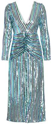 Rixo Emmy Stripe Sequin A-Line Dress
