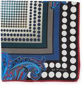 Etro Paisley/Ombre-Dot Silk Pocket Square